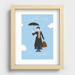 In every job, there is an element of fun Recessed Framed Print