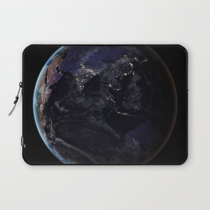 The Earth at Night 2 Laptop Sleeve