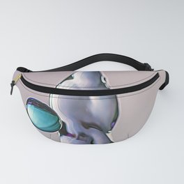3D blue and purple water drop splash Fanny Pack