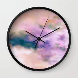 Color Burst - Blue Hydras Wall Clock