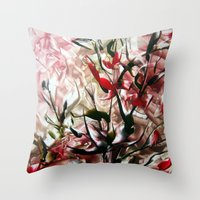 magnolia Throw Pillows featuring Magnolia by ART de Luna