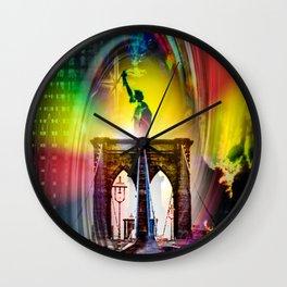 New York Brooklyn Bridge, Statue of Liberty Wall Clock