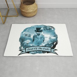 Lord Of The Owls - with text banner Rug