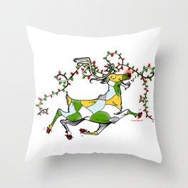 Rockin' Reindeer! Throw Pillow