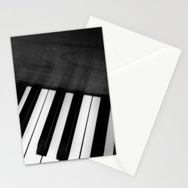 Black and White Piano Stationery Cards