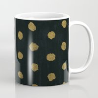 gold dots Mugs featuring GOLD DOTS by N A T