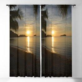 Sunset by the Caribbean beach 001 Blackout Curtain