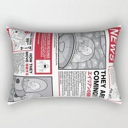 The News Rectangular Pillow