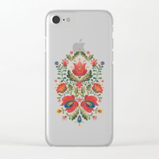 Folk Embroidery Clear iPhone Case