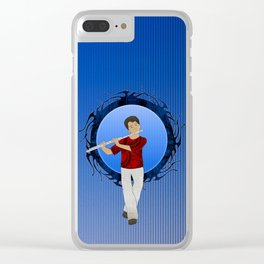 Flute Player Clear iPhone Case
