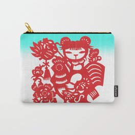 Little Girl on Rooster Carry-All Pouch