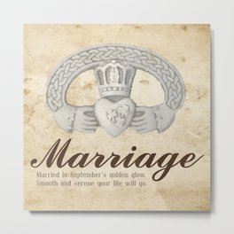 Married in September Metal Print