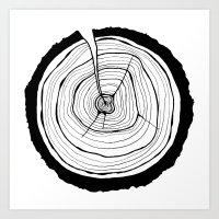 tree rings Art Prints featuring Tree Rings by Kristy Ann