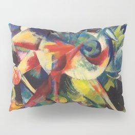 """Franz Marc """"Deer in a Flower Garden (also known as Deer in a Garden)"""" Pillow Sham"""