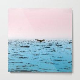 In the Middle of Ocean Metal Print