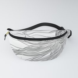 Electric Hair, in transparent/black Fanny Pack