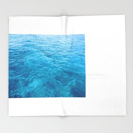 Blue is the warmest color Throw Blanket