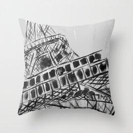 Paris Tour Eiffel Throw Pillow