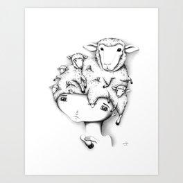 Merino Mutation Art Print