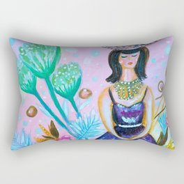 Wandering In My Favourite Purple Shiny Dress Rectangular Pillow