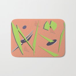 80s Shapes, Colors and Space Bath Mat