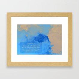 Jeremiah 32:17 Framed Art Print