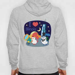 Ernest and Coraline | I love Illinois Hoody