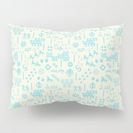 PeopleStory - Turquoise and Creme Pillow Sham