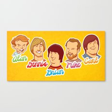 Alan & Dennis & Brian & Mike & Carl Canvas Print