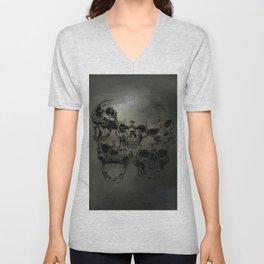 Dark abstract skull Unisex V-Neck