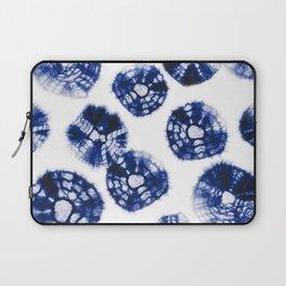 Shibori Kumo dots blue & white Laptop Sleeve