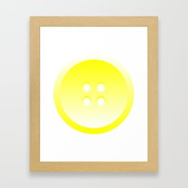 Button (from Design Machine archives) Framed Art Print