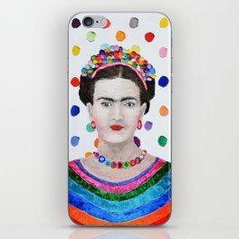 Polka Daub Frida iPhone Skin