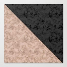 Brown , gray , mixed , patchwork Canvas Print