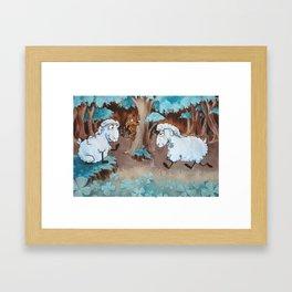 Three Leaves Clover Framed Art Print