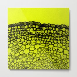 Crowded - Abstract In Black And Yellow Metal Print