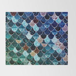 REALLY MERMAID TIFFANY Throw Blanket
