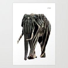 Elephant spy logo noir urban fashion culture Jacob's 1968 Paris Agency Art Print