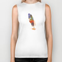 feather Biker Tanks featuring feather by emegi