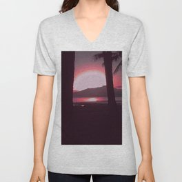 Cairns Sunrise in Red Unisex V-Neck