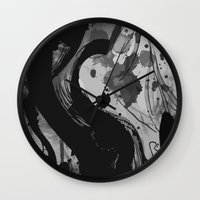reassurance Wall Clocks featuring Ink by Magdalena Hristova