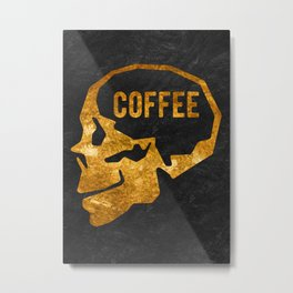 effects of coffee on the brain Metal Print