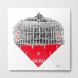 """Free the Animal"" Metal Print"