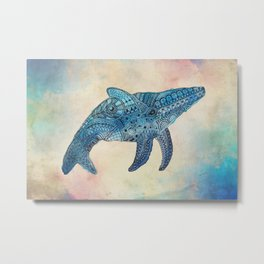 Baby Whale Metal Print