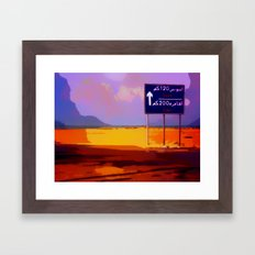 Road to Cairo Framed Art Print