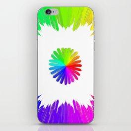 Circle of life (white) iPhone Skin