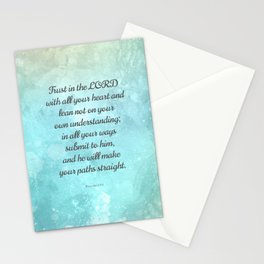 Proverbs 3:5-6, Encouraging Bible Quote Stationery Cards