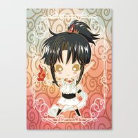 chibi Canvas Prints featuring Chibi Ashura by Neo Crystal Tokyo