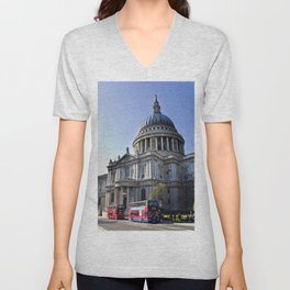 St Paul's Cathedral London Unisex V-Neck