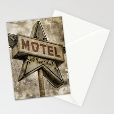 Vntage Grunge Star Motel Sign Stationery Cards